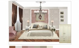 коллаж спальни в классическом стиле