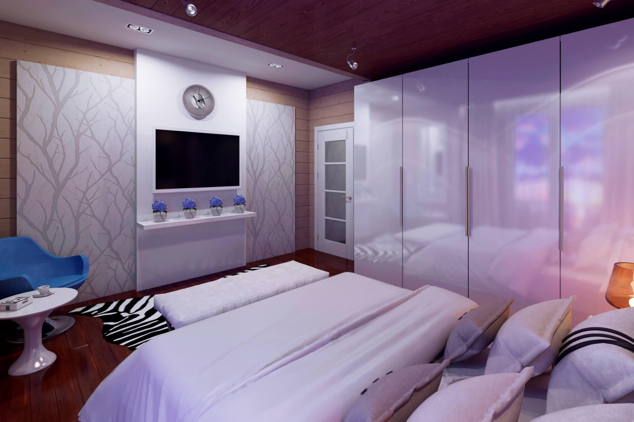 Дизайн спальни для молодой девушки студентки