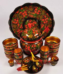 посуда в русском стиле