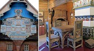 русккий стиль в интерьере