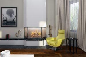 Желтое акцентное кресло