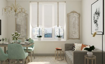 Дизайн-проект 2-х комнатной квартиры  на Нахимовском проспекте